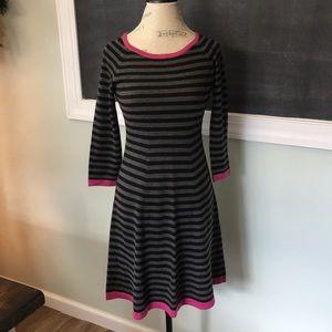 Eliza J Striped Sweater Dress Small